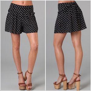 Free People black white flowy polkadot shorts